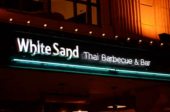 White Sands Thai BBQ & Bar Neon Sign in Downtown Ventura, CA by Dave's Signs
