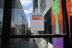 Avenue 64 Apartments Custom Graphic Window Sign, Highland Park, CA