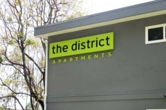 The District Apartments Dimensional Letter Sign in Fremont, CA