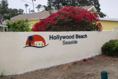 Hollywood Beach Seaside Apartments Sign
