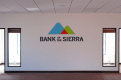 Bank of the Sierra Indoor Dimensional Letter Office Sign