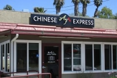 AJ Chinese Express Channel Letter Sign & Door Lettering in Ojai, CA