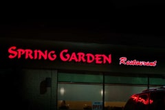 Spring Garden Restaurant Illuminated Channel Letter Sign