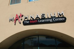 Mathnasium Channel Letter Sign