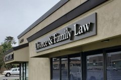 Negley Law Divorce & Family Law Channel Letter Sign, Ventura, CA