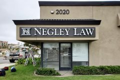 Negley Law Channel Letter Sign, Ventura, CA