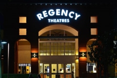 Regency Theater Channel Letter Neon Sign in Agoura Hills, CA.