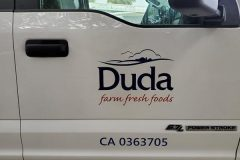 Duda Farm Fresh Foods Custom Graphic Vehicle Sign, Ventura, CA