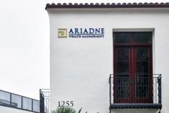 Ariadne Wealth Management Dimensional Letter Sign in Santa Barbara, CA