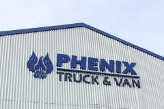 Phenix Truck and Van Dimensional Letter Sign, Pomona, CA