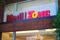 Medi Zone Dimensional Letter Sign