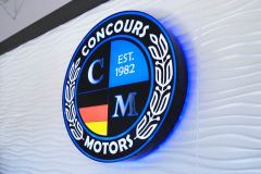Concours Motors Illuminated Interior Lobby Sign, Ventura, CA