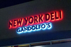 Gandolfo's New York Deli Illuminated Sign in Oxnard, CA
