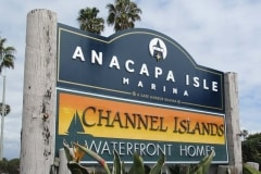 Anacapa Isle Marina Post & Panel Monument Sign, Oxnard, CA