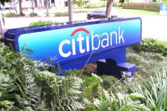 Citibank Monument Sign, another one of our National Sign Accounts