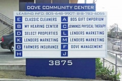 Dove Community Center Monument Sign