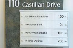 150 Castilian Drive Office Sign, Goleta, CA