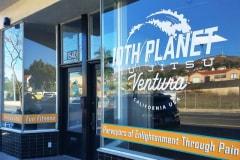 10th Planet Jiu Jitsu Custom Window Graphic Signs in Ventura CA