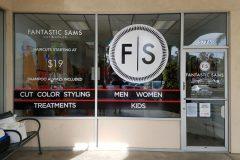 Fantastic Sams Window Graphic Signs, Goleta, CA