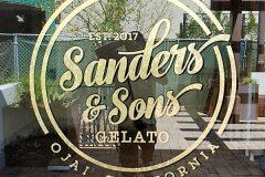 Sanders & Sons Gelato Window Graphic Sign, Ojai, CA