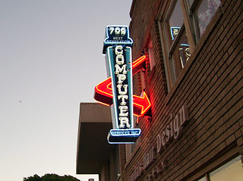 Neon Sign Design Computer