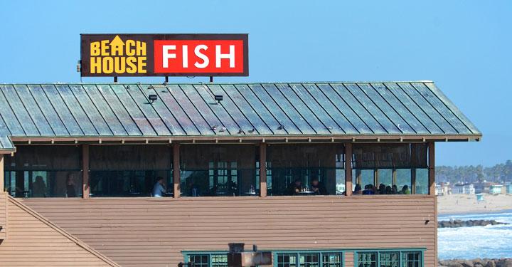 Beach House Fish Dimensional Letter Sign in Ventura, CA