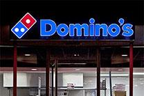 Dominos Illuminated Channel Letter Sign in Santa Barbara