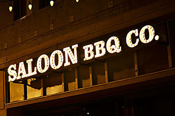Saloon BBQ Custom Sign