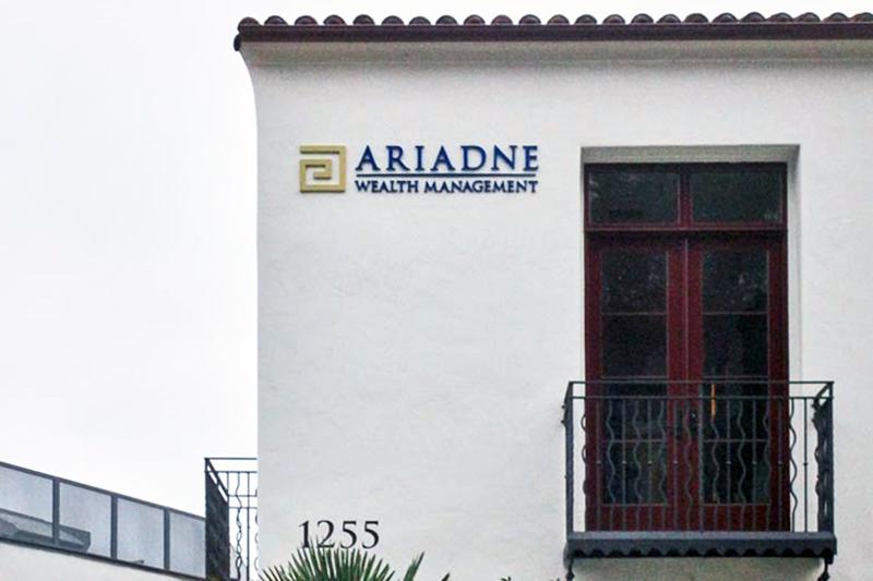 Sign Ariadne Wealth Management, Dimensional Letter Sign