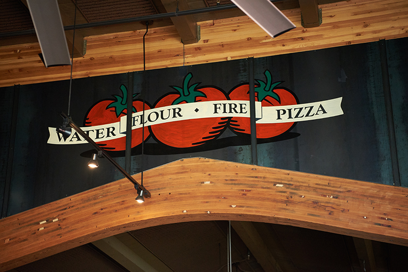 Hand Painted Custom Graphic Sign - Toppers Pizza