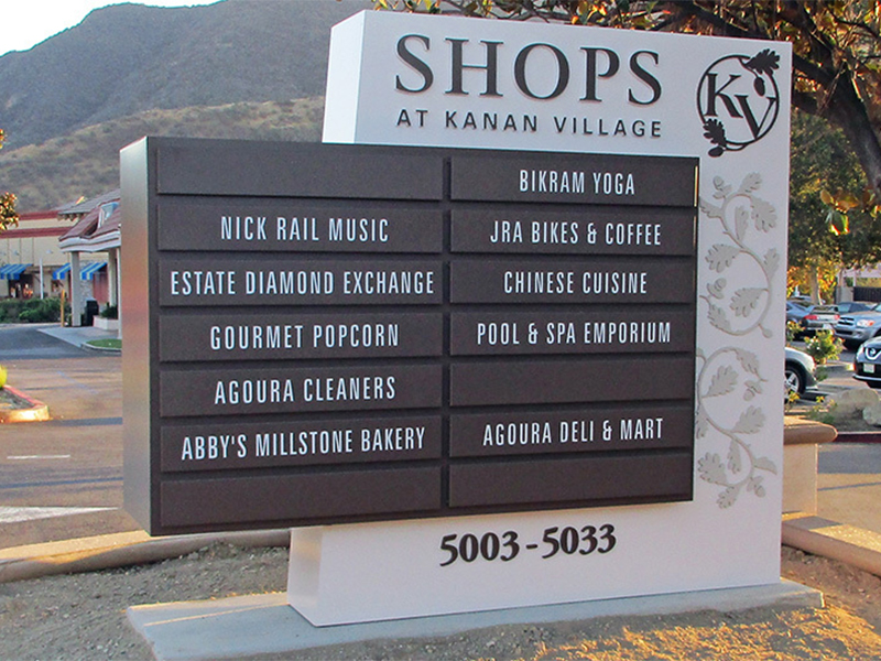 Business Directory Signs - Kanan Village