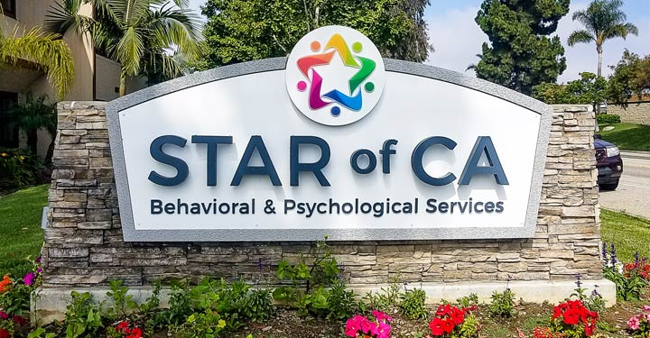 Newly Renovated Star of CA Monument Sign in Ventura, CA